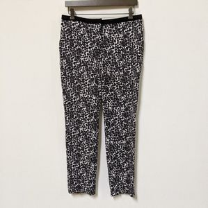 H&M Spotted Skinny Stretchy Pants Black White 10